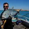 Big Trevally caught with surface popper.