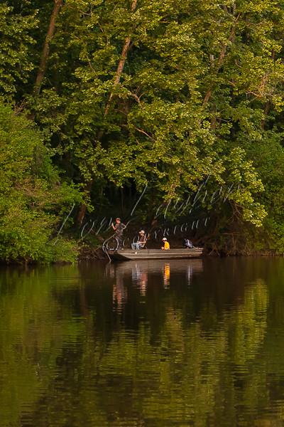 Fishing, spin fishing, fishing for spiny ray fish