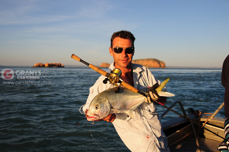 Nick's Trevally caught just before sunset.
