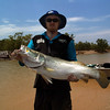Ben Palmer with a nice Barramundi just shy of a meter long.