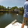 I wanted to get Barry Hall a lemon shark but first we had to catch a couple small barracudas for chum and bait, so we went into the canals.