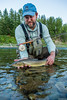 Fishing, fly fishing for trout,  bull trout fishing