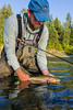 Fishing, fly fishing for trout,  cutthroat trout fishing