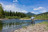 Fishing, fly fishing for westslope cutthroat trout