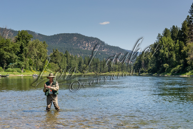Fishing, fly fishing for trout.