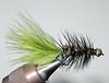 #6 Olive & Black Beadhead Wooly Bugger (tungsten bead)