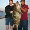 Jeanne with 46 lb Broom Tail Grouper