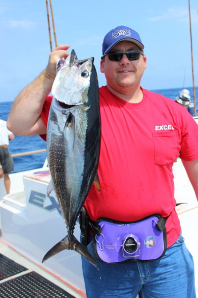 Bill with his first Blue Fin of the trip.  They got a lot bigger after this.!