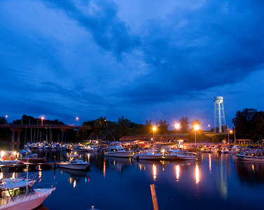 Olcott harbor, quietly waiting for the days fishing to begin.