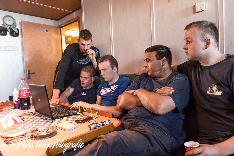 The crew compartment. / De bemanningsruimte.