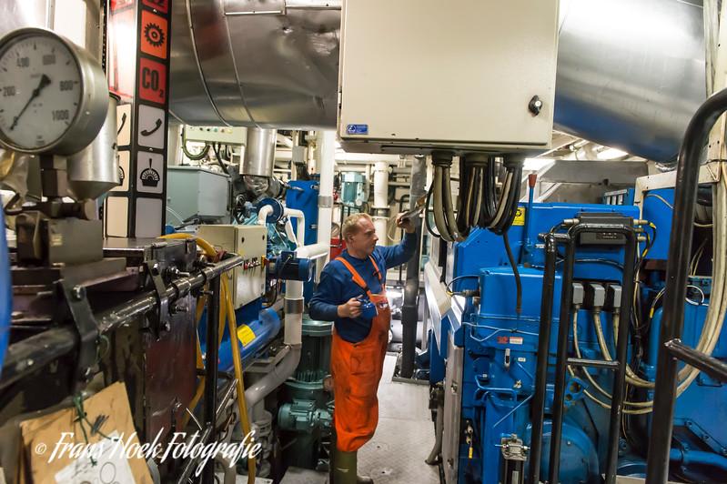The engine room. / De machinekamer.