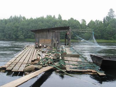 Salmon netting hut, Numedalslagen, Norway.