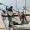 Our Skipper and crew loading several hundred scoops of bait.