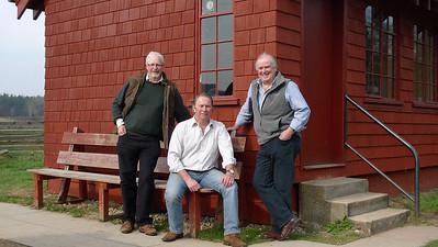 Richard, Will and Bryan, Carlogie, April, 2010