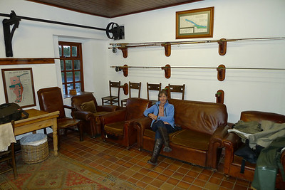 Gill in the rod room at Dess Mill.