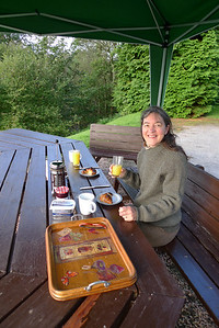 Breakfast on the terrace, Dee Mill.