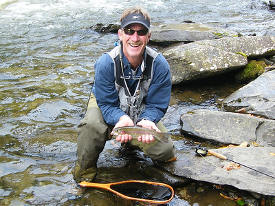 Rich W. with a nice rainbow on the Trophy.