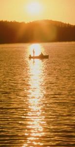 Back Lake sunset!