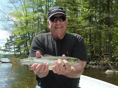 Warren Phillips Landlocked Salmon. Spring fishing at Lake Francis Inlet.