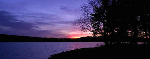 Back Lake Sunset in November
