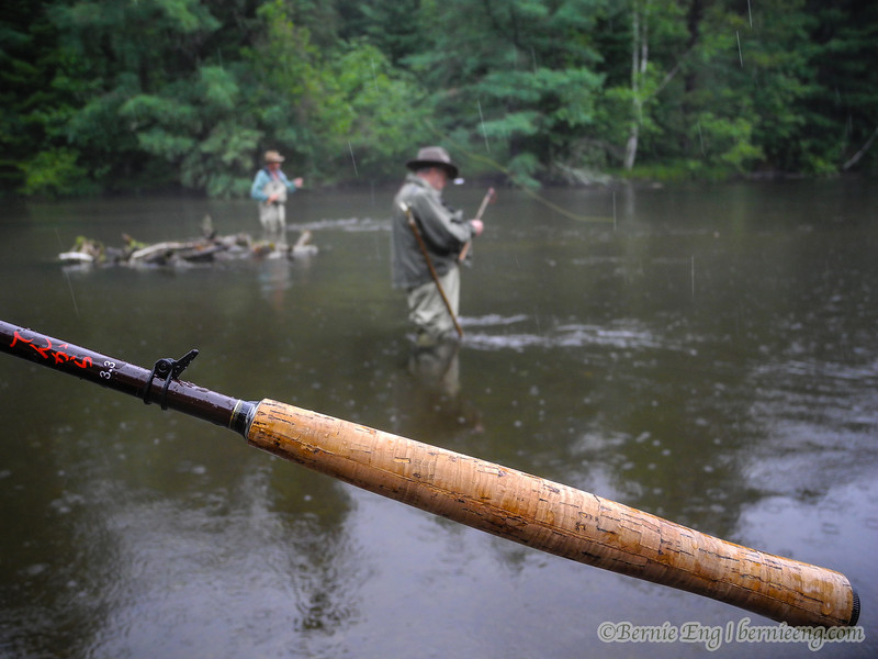 I have to get in the picture somehow, just to show there are three Tenkara anglers in the same stretch of the AuSable. It was nice to finally be the majority. Thanks for letting me crash the party!