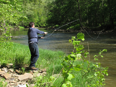 Vermilion River...one of Ohio's best fly fishing rivers. Adam tries it May 10, 2012.