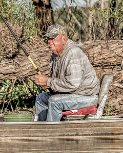 Portrait of a Crappie Fisherman