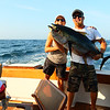 Mary and Chad with her 72 lb Yellow Fin Tuna.