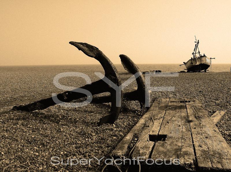 Fishing boat,Aldeburgh beach,Suffolk,England