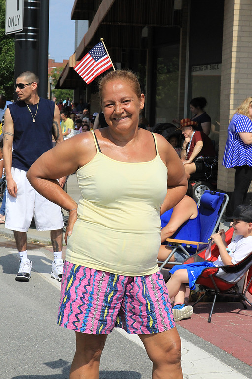 . Wanda Alvarado from Fitchburg showing her July 4th pride SENTINEL&ENTERPRISE/Scott LaPrade