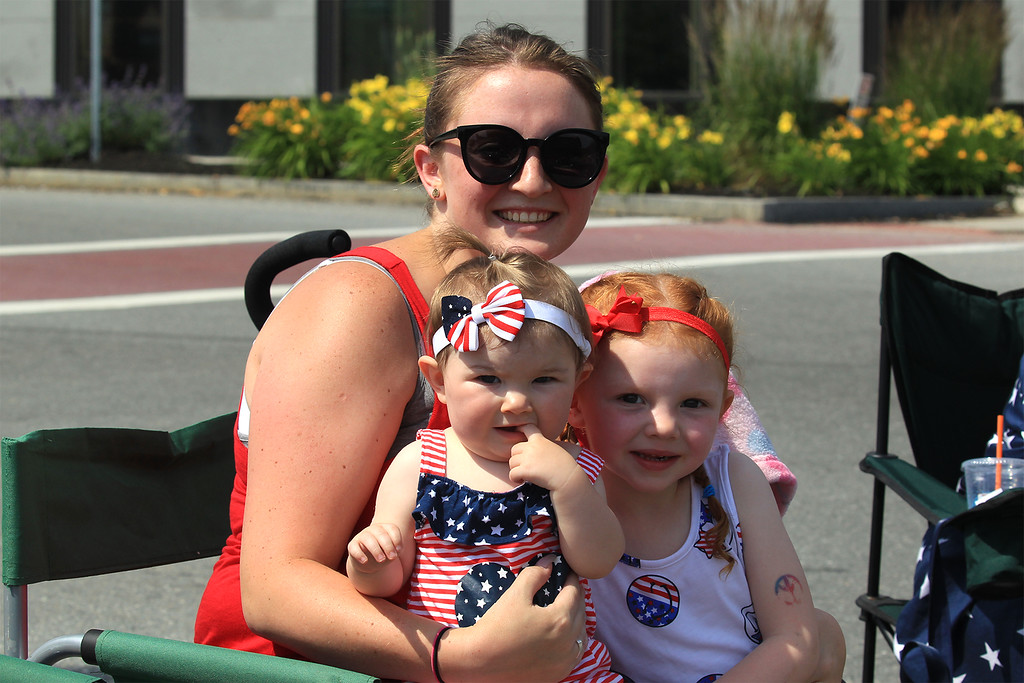 . Grayland and Emily Rusk and Jenifer Teft from Leominster enjoying the parade SENTINEL&ENTERPRISE/Scott LaPrade