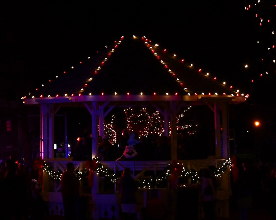 . The Gazebo on the Common in Fitchburg is covered in lights for the holiday Season. Sentinel & Enterprise / Jim Fay