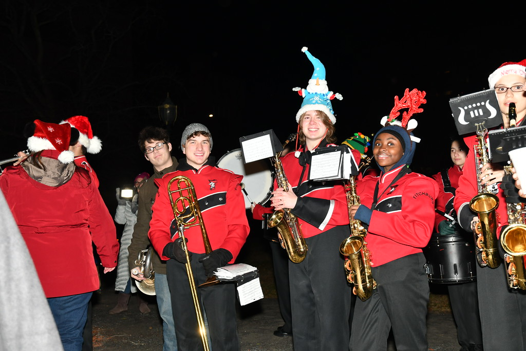 . Members of the Fitchburg High School Band. Sentinel & Enterprise / Jim Fay