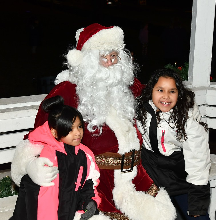 . Photo with Santa. Sentinel & Enterprise / Jim Fay