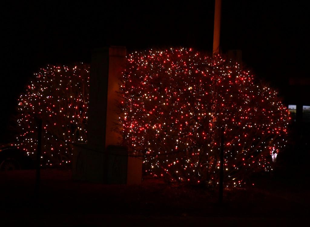 . Lights on Boulder Drive. Sentinel & Enterprise / Jim Fay