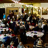Fitchburg residents and local dignitaries gathered to celebrate the 125th anniversary of the Fitchburg Armory, now the Senior Center, on Wednesday evening. The Fitchburg Military Band entertains the crowd during dinner. SENTINEL & ENTERPRISE / Ashley Green