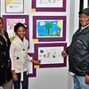 Lorrachester, Dorothy and George Kuwana showing Dorothy's artwork on display at Fitchburg Art Museum.  SENTINEL & ENTERPRISE/JIM FAY