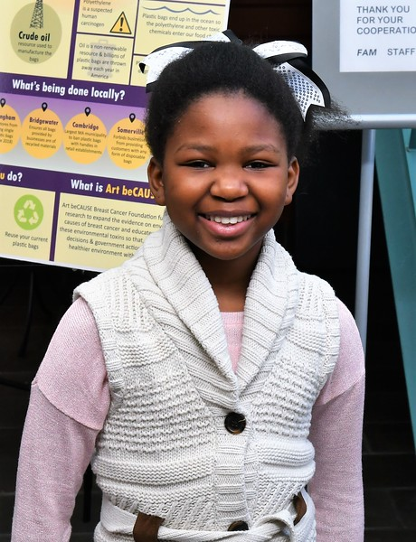 Dorothy Kuwana , a 10-year- old from Gardner , who's in fourth grade at St Bernard's Elementary School, had her artwork displayed at Fitchburg Art Museum.