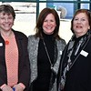 Laura Howick, director of education at Fitchburg Art Museum, Dru Lindgren, assistant executive director of Art beCAUSE  Breast Cancer Foundation, and Ellie Anbinder, executive director andfounder of Art beCause - Breast cancer Foundation are all smiles. SENTINEL & ENTERPRISE/JIM FAY