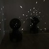 Otto Piene's Light Robots on display at the Fitchburg Art Museum on Sunday.<br /> SENTINEL & ENTERPRISE / Nick Mallard