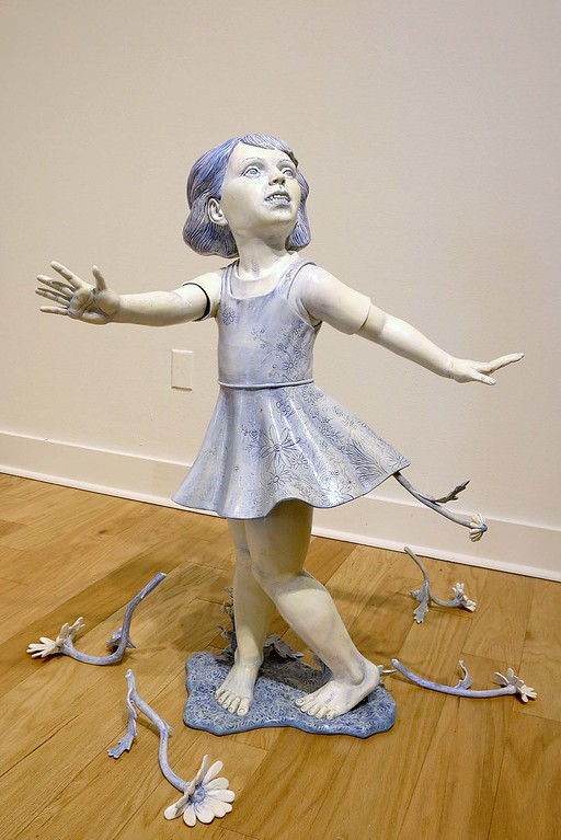 """. This piece of art by Cynthia Consentino called the Twirling Girl can be see this Sunday at the opening of the Fitchburg Art Museum show \""""Fantastical, Political.\""""  SENTINEL & ENTERPRISE/JOHN LOVE"""