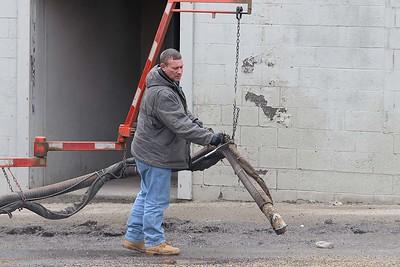 Fitchburg DPW fixes potholes, February 16, 2018