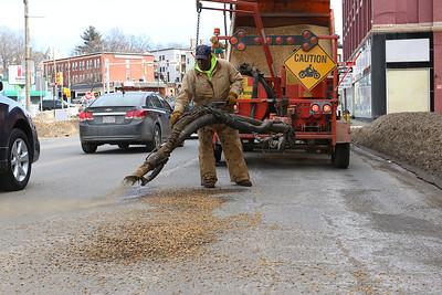 Fitchburg DPW fixing roads, Feb. 21, 2017