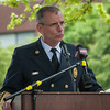 Chief of Department Kevin D Roy speaks during the 66th Annual Fitchburg  Firefighters Memorial Sunday  in the Upper Common. SENTINEL&ENTERPRISE/ Jim Marabello