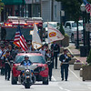Fitchburg Firefighters march up Main St from Central Station to the Upper Common for Firefighters Memorial Sunday. SENTINEL&ENTERPRISE/ Jim Marabello