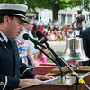 Lt Patrick Roy reads the Roll of Departed Members at the 66th Annual Firefighters Memorial Sunday at the Department's Memorial in the Upper Common. SENTINEL&ENTERPRISE/ Jim Marabello