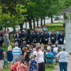 Family, friends, retirees and members of the Fitchburg Fire Department gathered at the Department's Memorial in the Upper Common for the  66th Annual Firefighters Memorial Sunday. SENTINEL&ENTERPRISE/ Jim Marabello