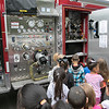 Reingold Elementary School in Fitchburg had a fire prevention day at the school and the Fitchburg Fire Department came to talk to the students. Students learn about the fire truck that came to the school from Firefighter Kyle Forrest. SENTINEL & ENTERPRISE/JOHN LOVE