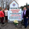 The planning committee for the Sam Pawlak Playground stand with a sign for their upcoming Fundraiser at the Knights of Columbus in Fitchburg. From left is Jack Cassidy, Kelly Cassidy, Cheryl Cucchiara Donna Pawlak and Michael Pawlak. The Park they are raising money to build will be at Coolidge Park. SENTINEL & ENTERPRISE/JOHN LOVE