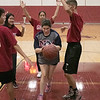 The Fitchburg High School and North Middlesex Regional High School Unified Basketball teams played each other in a game on Wednesday afternoon in the gym at FHS. NM's Madison Paige dribbles to the basket to take a shot during the game. SENTINEL & ENTERPRISE/JOHN LOVE